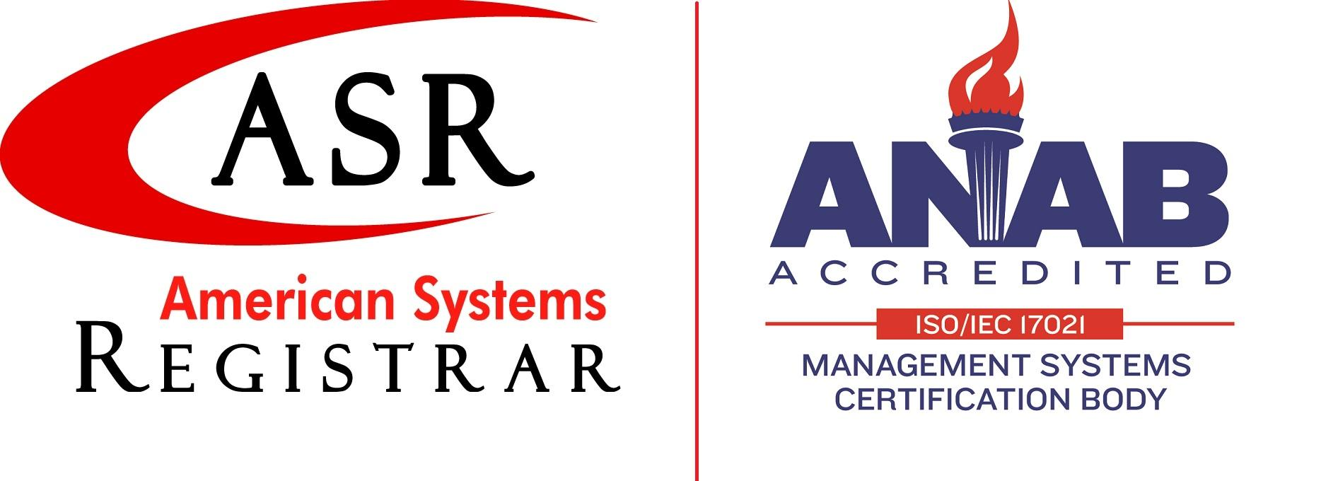 ASR ANAB Logo for ISO registration